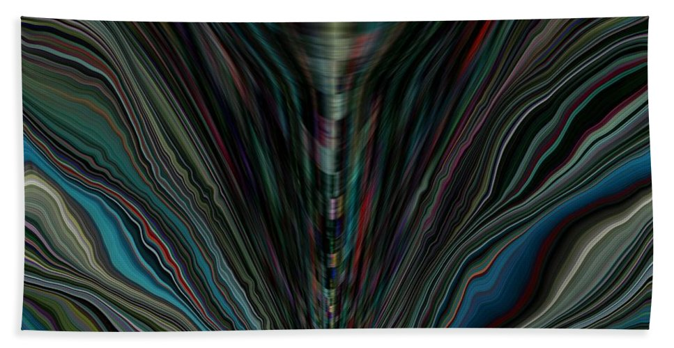 Abstract Hand Towel featuring the digital art Renewal by Tim Allen