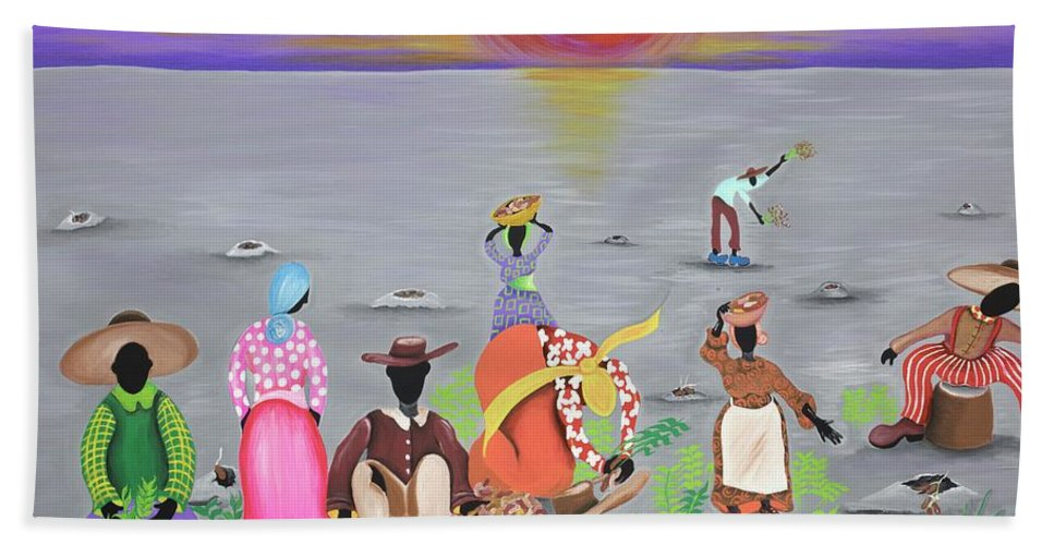 Sabree Hand Towel featuring the painting Replenish by Patricia Sabree