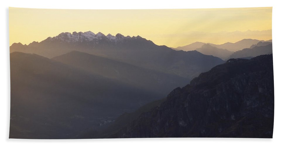 Resegone Hand Towel featuring the photograph Resegone by Riccardo Mottola