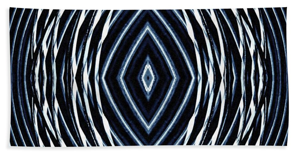 Curve Hand Towel featuring the digital art Resonance by Sarah Loft