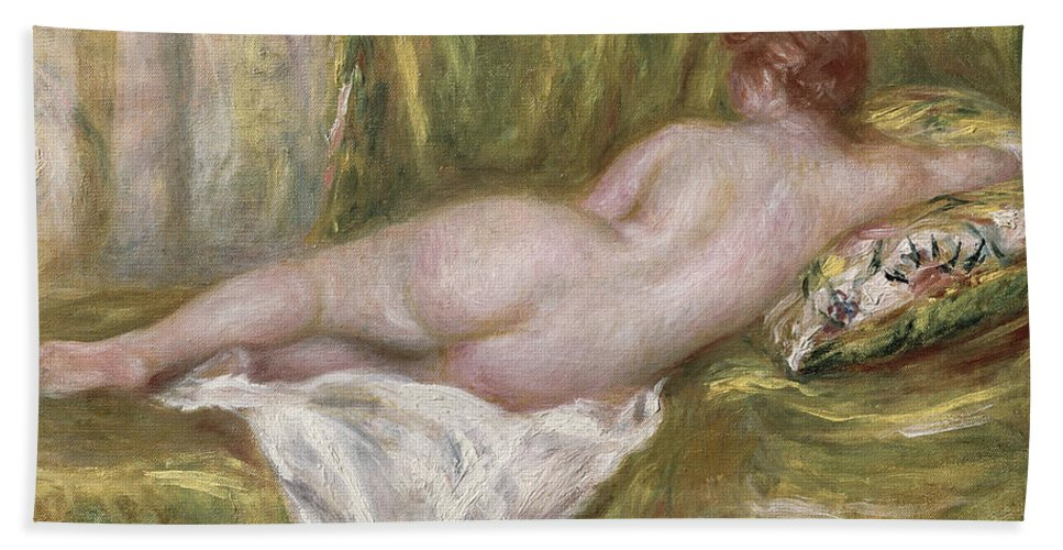 Renoir Bath Towel featuring the painting Rest After The Bath by Pierre Auguste Renoir
