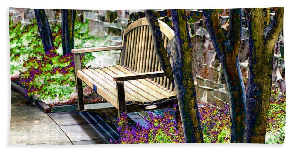 Garden Bath Sheet featuring the photograph Rest In The Garden by Karin Everhart