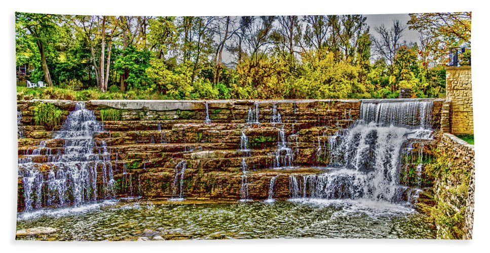 Resting Hand Towel featuring the photograph Resting Falls by William Norton