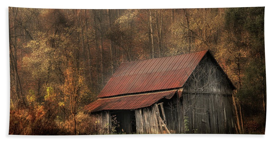 Barn Hand Towel featuring the photograph Resting Place by Mike Eingle
