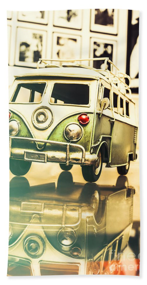 Vehicle Hand Towel featuring the photograph Retro 60s Toy Van by Jorgo Photography - Wall Art Gallery
