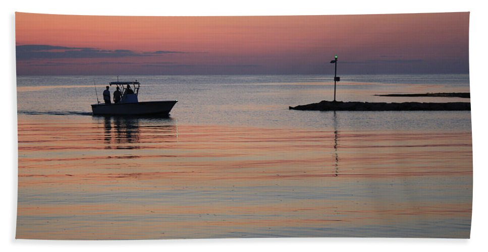 Cape Cod Bath Sheet featuring the photograph Returning To Port by Gene Lossman