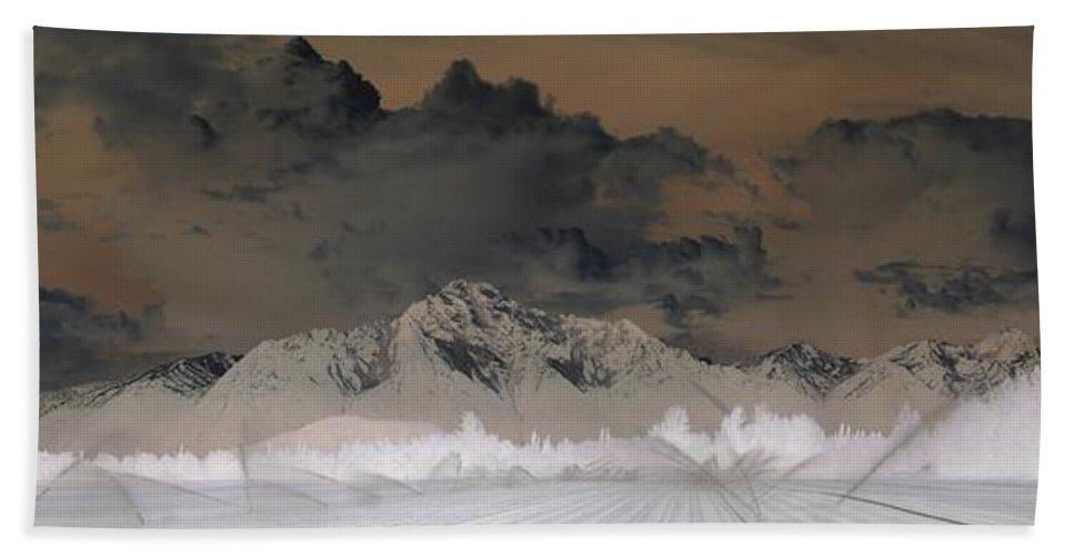Landscape Bath Towel featuring the photograph Reverse Landscape by Ron Bissett