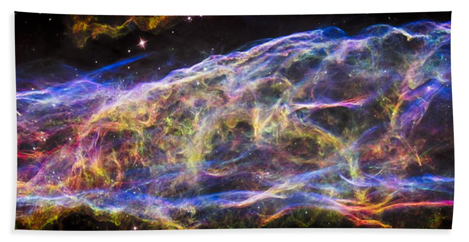 3scape Hand Towel featuring the photograph Revisiting The Veil Nebula by Adam Romanowicz