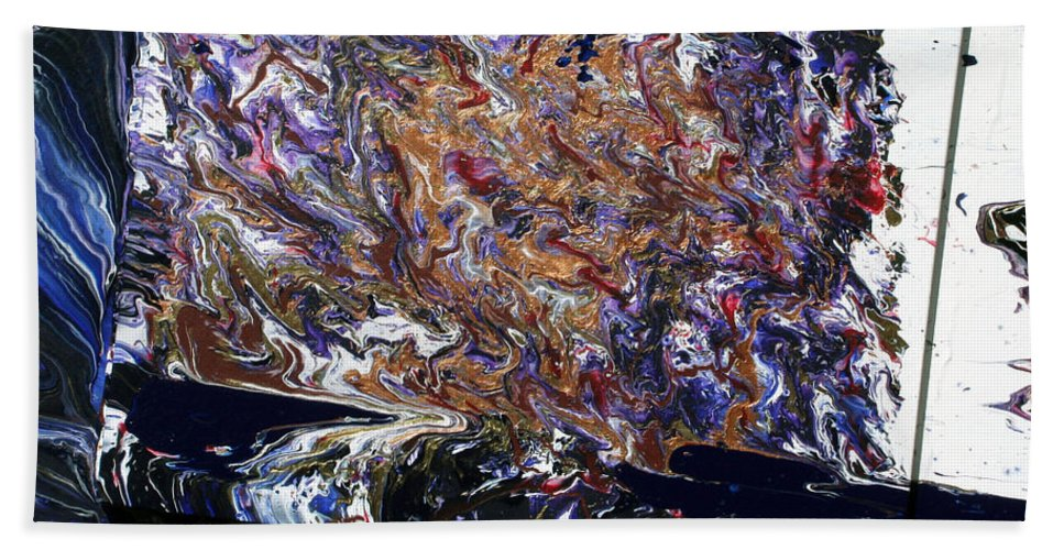 Fusionart Bath Towel featuring the painting Revolution by Ralph White