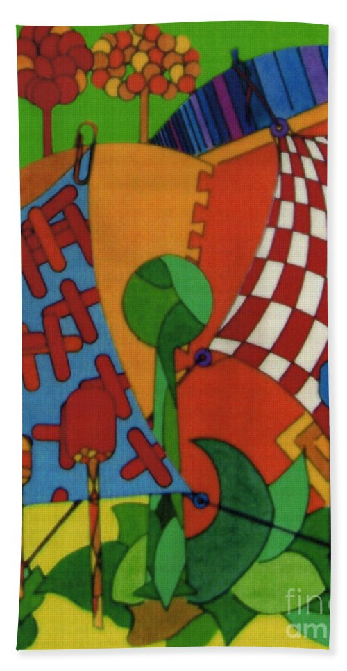 Out To Dry Hand Towel featuring the drawing Rfb0529 by Robert F Battles