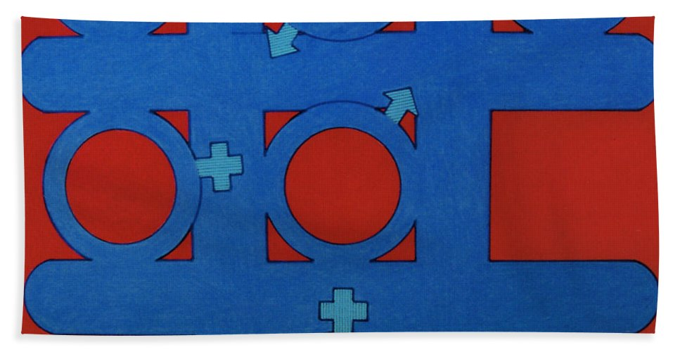 Tic-tac-toe Hand Towel featuring the drawing Rfb0803 by Robert F Battles