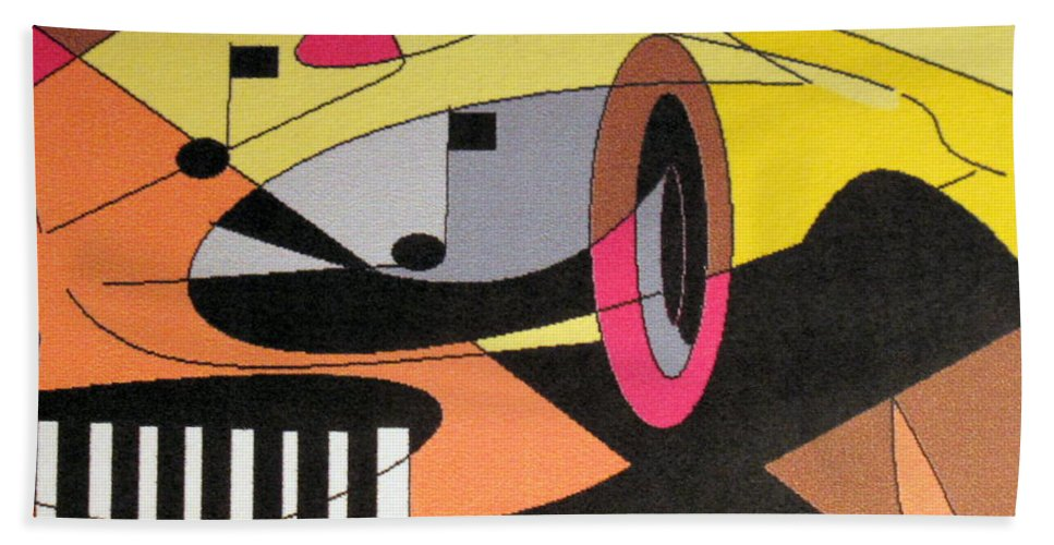 Music Hand Towel featuring the digital art Rhapsody by Ian MacDonald