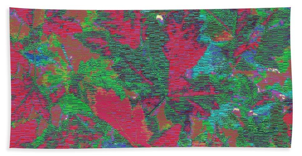 Rhapsody Hand Towel featuring the digital art Rhapsody In Fall by Tim Allen