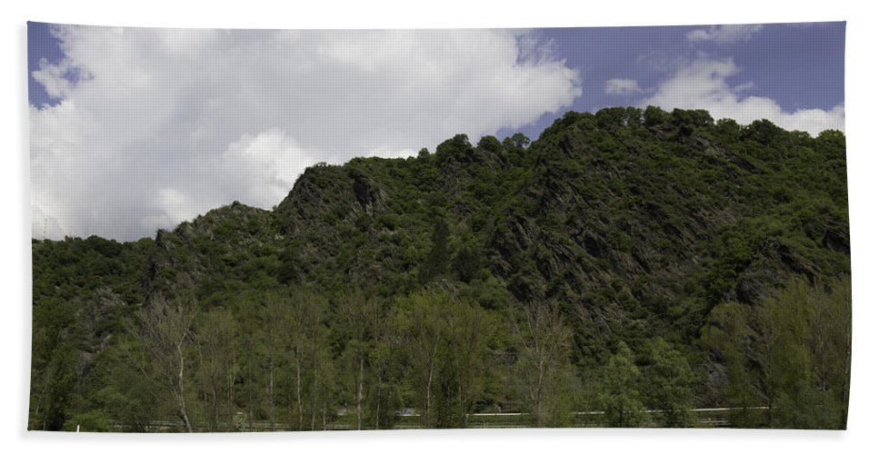 Rhenish Massif Bath Sheet featuring the photograph Rhenish Massif 01 by Teresa Mucha