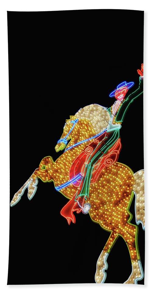 Neon Bath Sheet featuring the photograph Rhinestone Cowboy by JAMART Photography