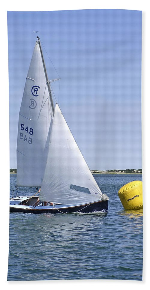 Rhodes Hand Towel featuring the photograph Rhodes 18 Rounding The Mark by Charles Harden