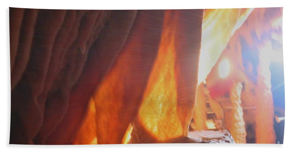 Natural Bath Sheet featuring the photograph Ribbons - Cave by Lynn Michelle
