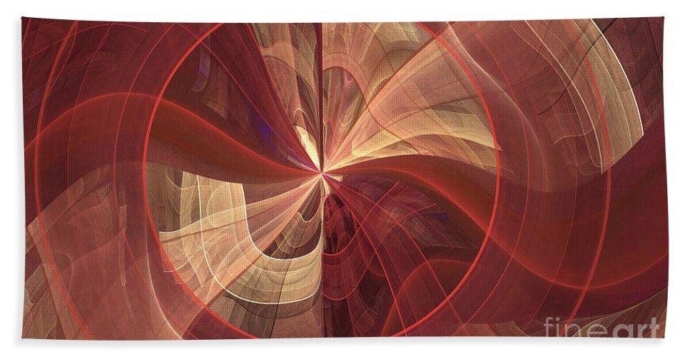 Digital Hand Towel featuring the digital art Ribbons Of Pink by Deborah Benoit