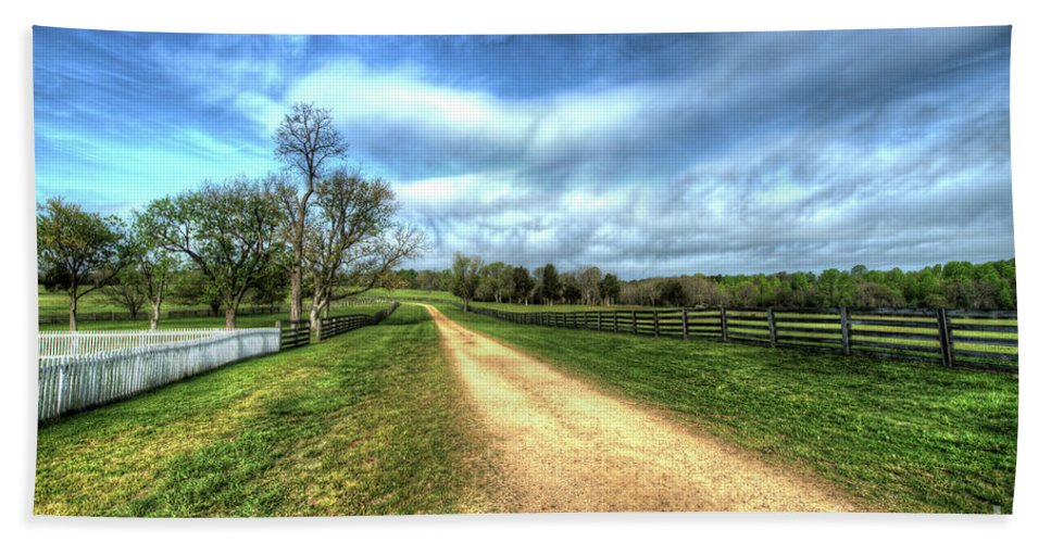 Appomattox Hand Towel featuring the photograph Richmond-lynchburg Stage Road, Appomattox, Virginia by Greg Hager