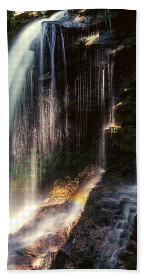 Ricketts Glen State Park Hand Towel featuring the photograph Ricketts Glen Falls 028 by Scott McAllister