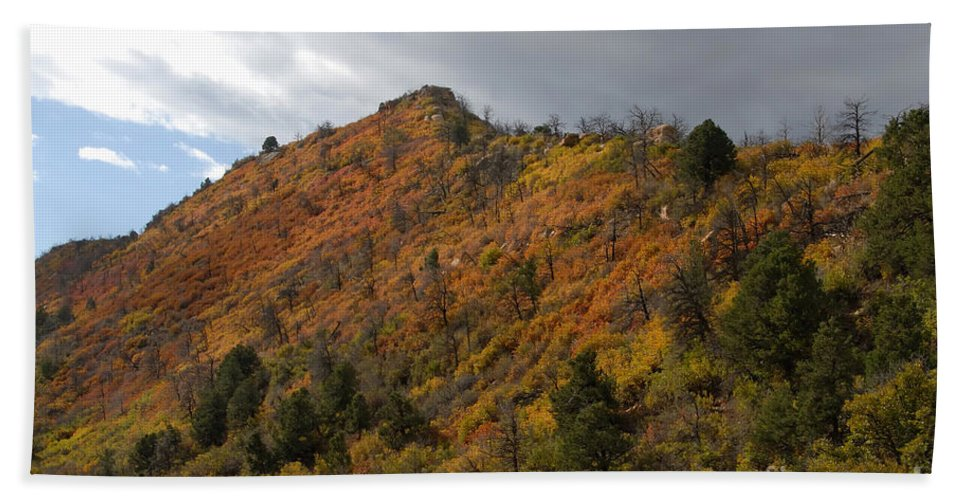 Landscape Hand Towel featuring the photograph Ridge Line by David Lee Thompson