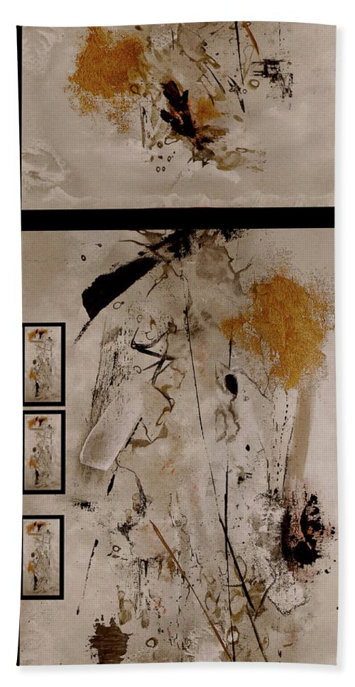 Abstract Bath Sheet featuring the painting Righteous Judgment by Ruth Palmer