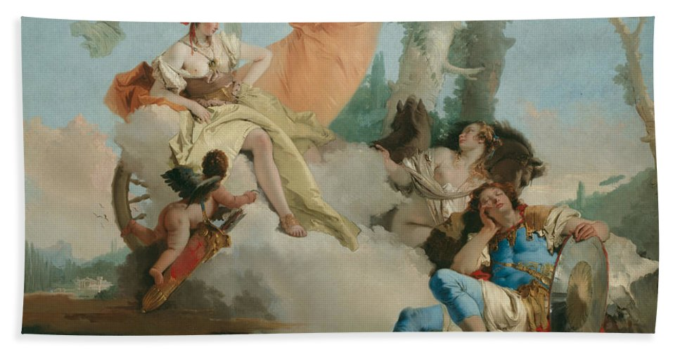 Italian Artist Hand Towel featuring the painting Rinaldo Enchanted By Armida by Giovanni Battista Tiepolo