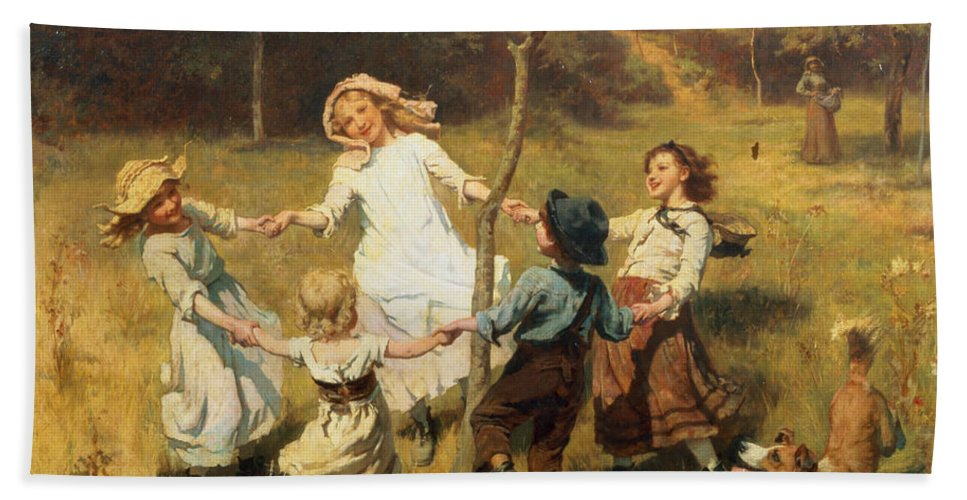 Ring Of Roses Bath Towel for Sale by Frederick Morgan