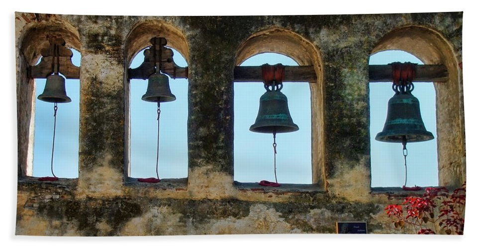 Ringing Bells Hand Towel featuring the photograph Ringing Bells by Mariola Bitner