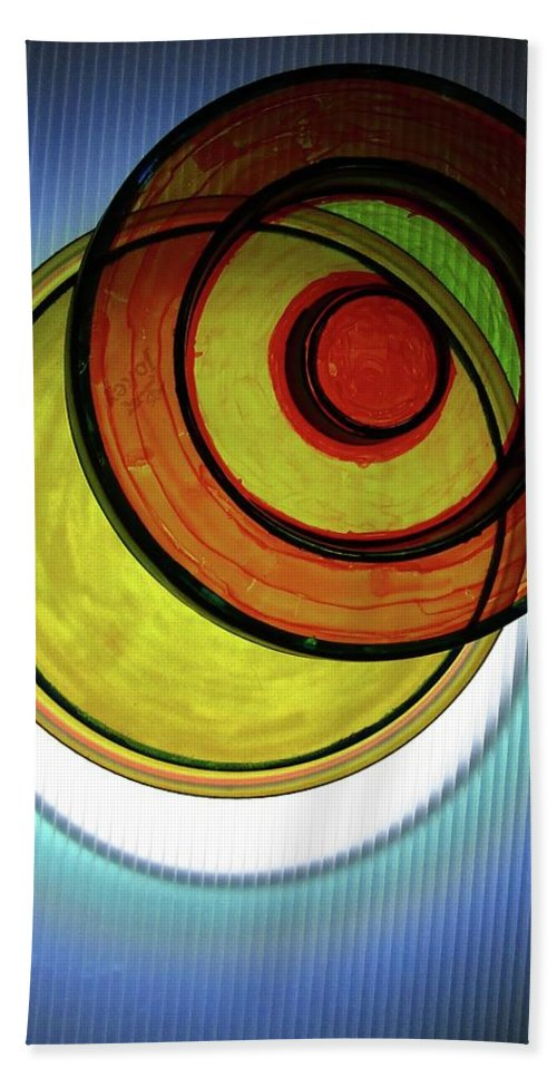 Abstract Hand Towel featuring the photograph Eclipse-2 # 2 by Paolo Staccioli