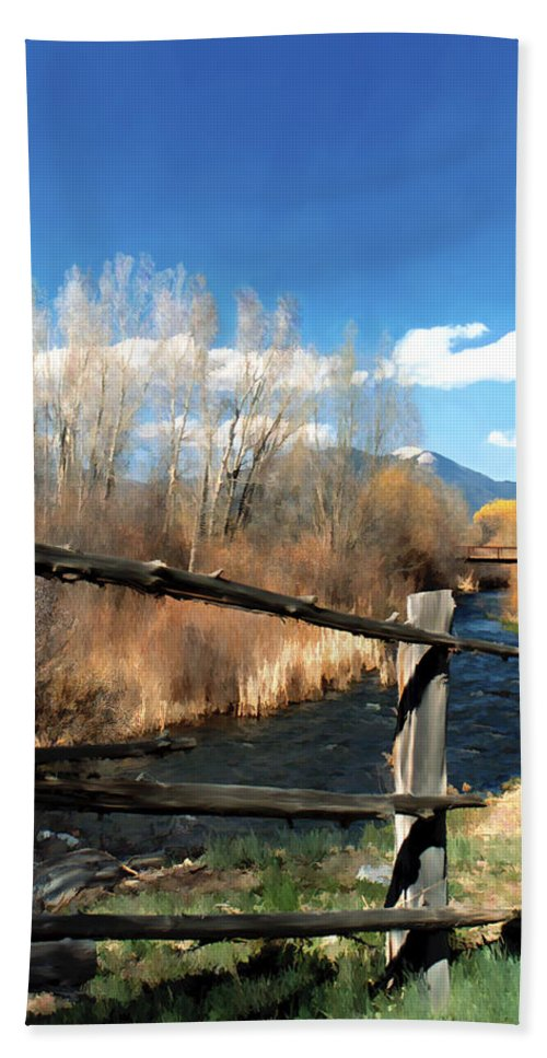 River Hand Towel featuring the photograph Rio Pueblo by Kurt Van Wagner
