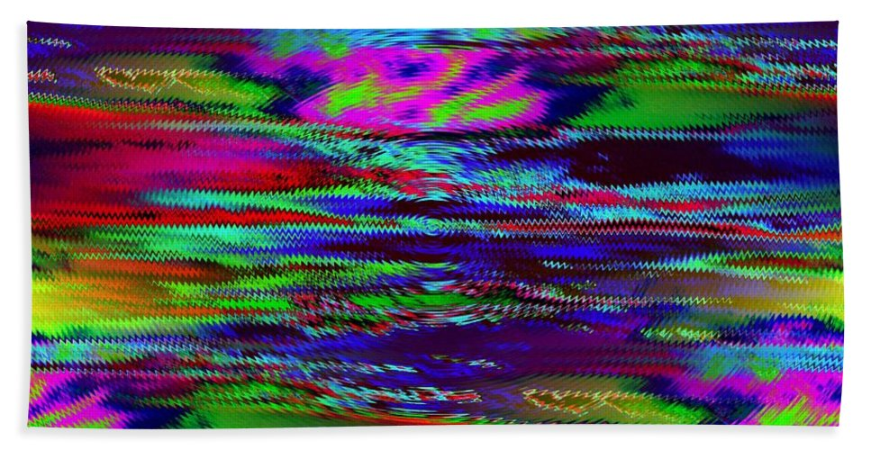 Sunset Bath Sheet featuring the photograph Ripple Sunset by Tim Allen
