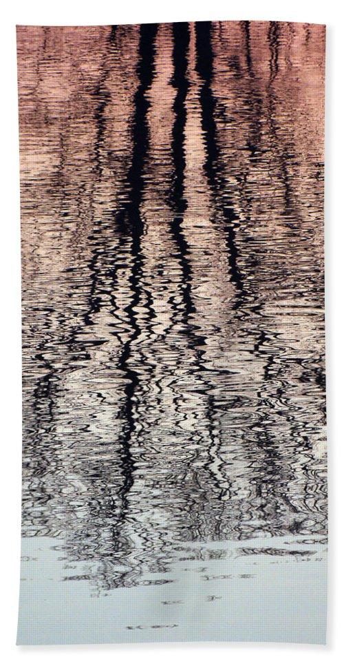 Waves Hand Towel featuring the photograph Rippled Reflection by J R  Seymour