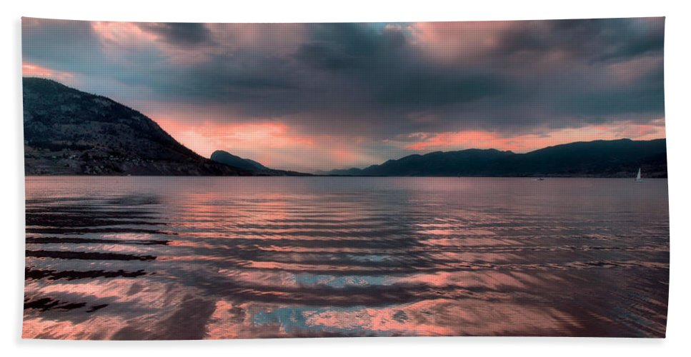 Lake Bath Sheet featuring the photograph Ripples And Reflections by Tara Turner