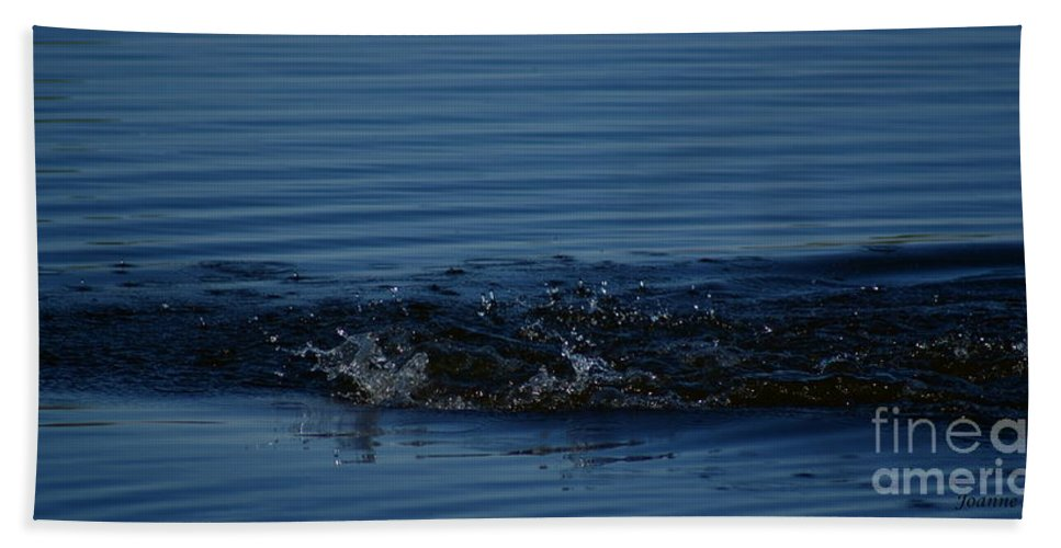 Waves Ripples In Lake Hand Towel featuring the photograph Ripples by Joanne Smoley