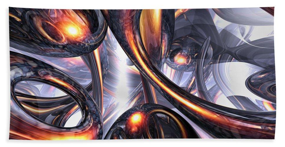 3d Bath Sheet featuring the digital art Rippling Fantasy Abstract by Alexander Butler
