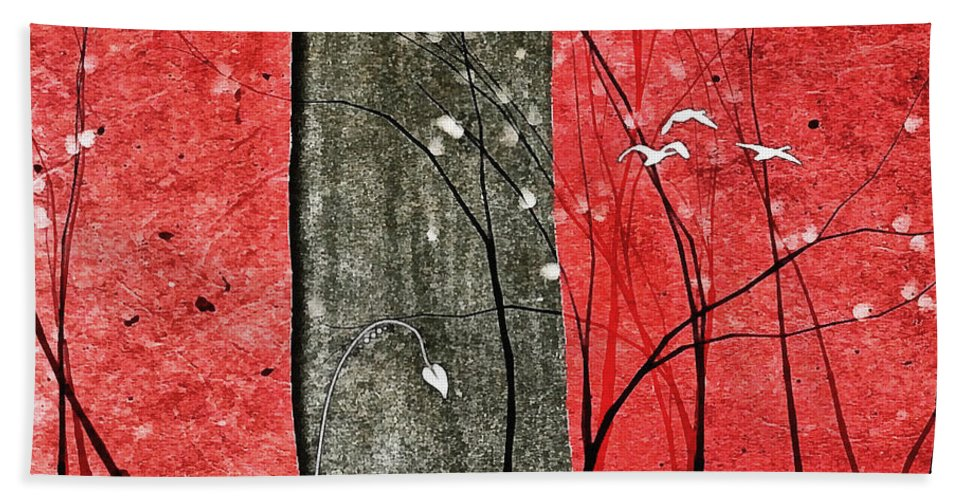 Abstract Hand Towel featuring the digital art Ripscape #5 by Tanya Gordeeva