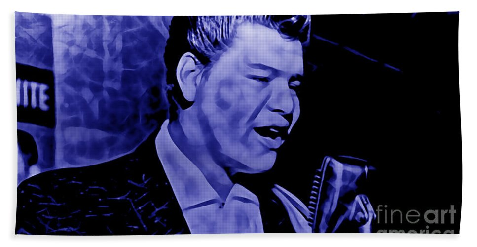 Ritchie Valens Hand Towel featuring the mixed media Ritchie Valens Collection by Marvin Blaine