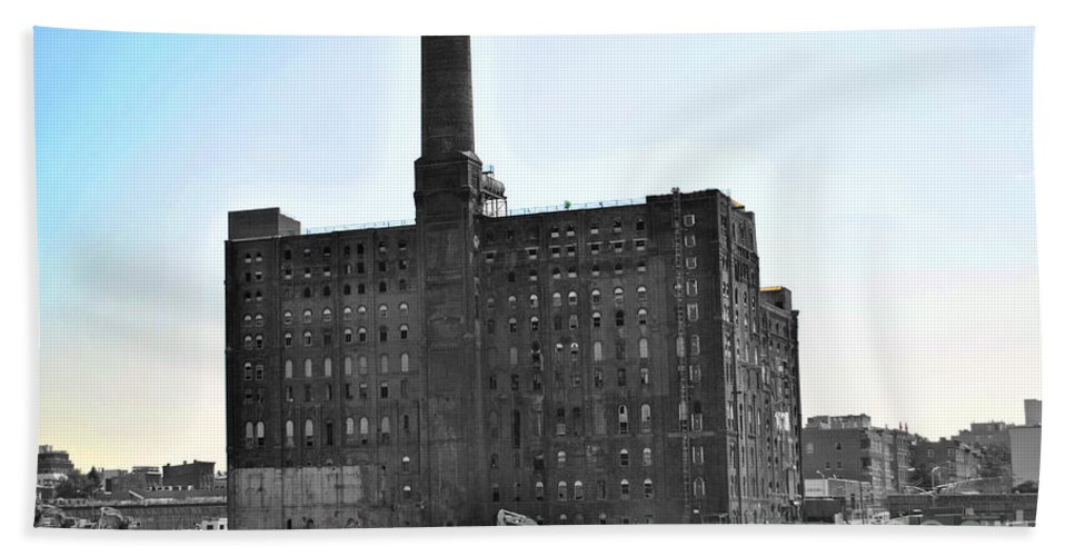 New Bath Towel featuring the photograph River Factory by Jost Houk