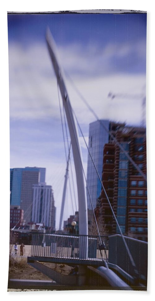 Denver Hand Towel featuring the photograph River Front Park by Jeffery Ball