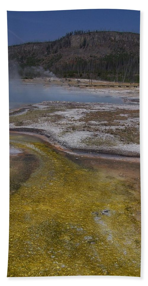 Geyser Bath Towel featuring the photograph River Of Gold by Gale Cochran-Smith