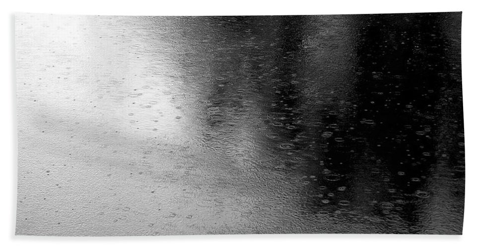 River Hand Towel featuring the photograph River Rain Naperville Illinois by Michael Bessler