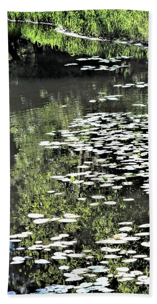 Reflections Bath Sheet featuring the photograph River Shallows by Diann Fisher