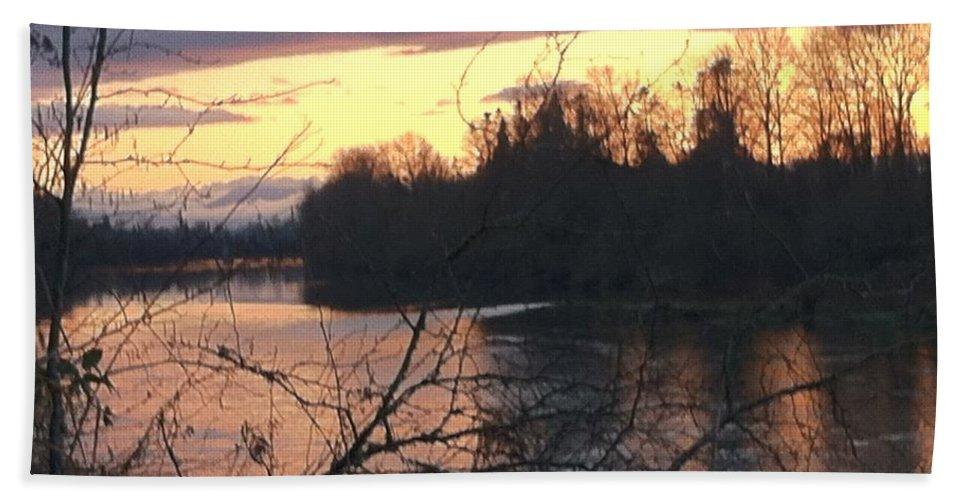 River Bath Sheet featuring the photograph River by Shari Chavira
