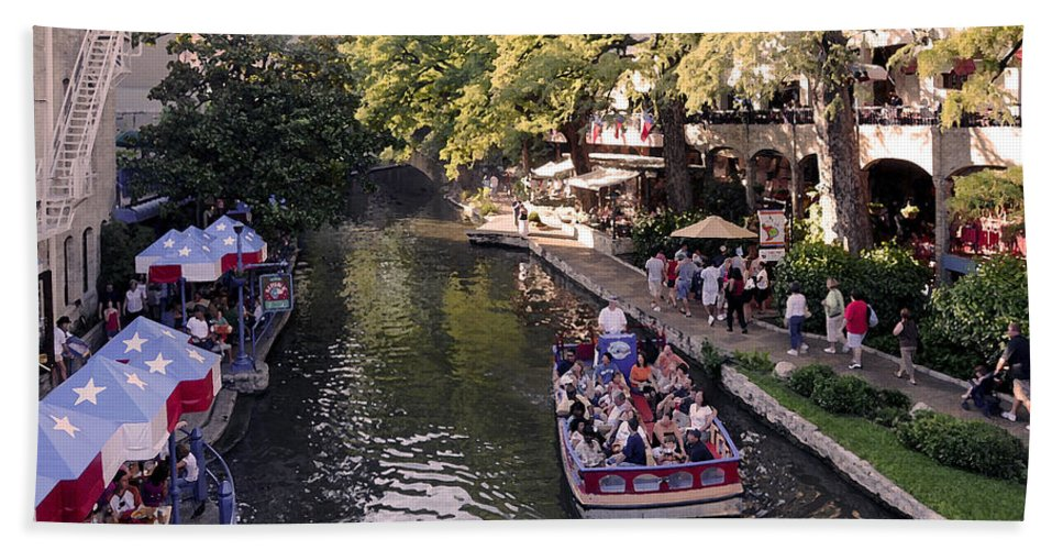 Impressionism Bath Sheet featuring the photograph Riverwalk IIi by Steven Sparks
