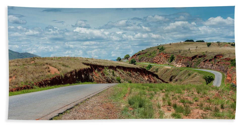 Africa Hand Towel featuring the photograph Road To Antananarivo by Michael Jacobs
