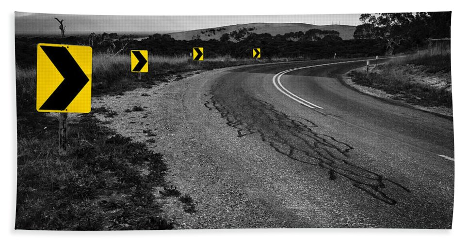 Road Bath Towel featuring the photograph Road To Nowhere by Kelly Jade King