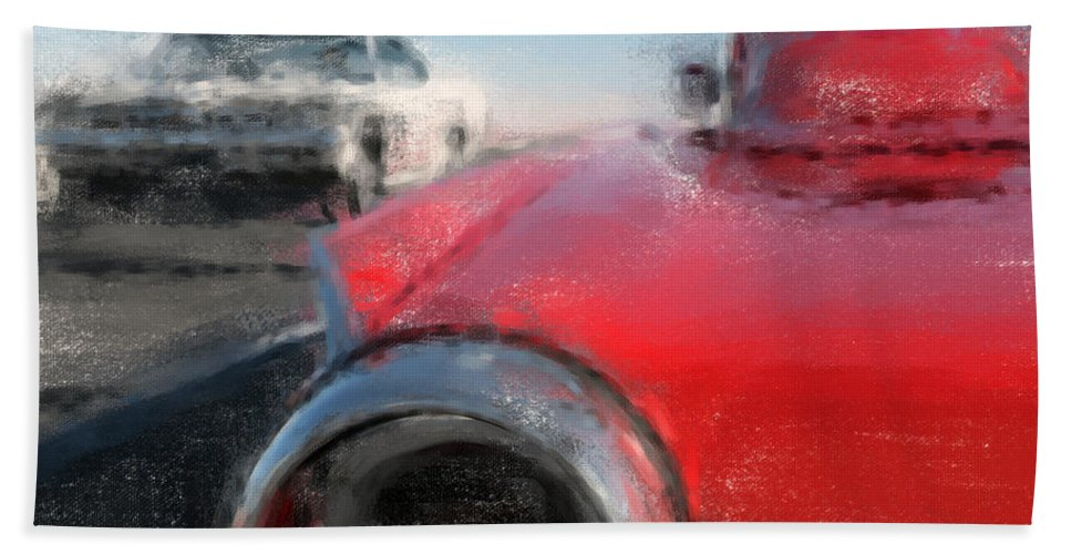 Classic Cars Hand Towel featuring the digital art Road Trip by Richard Rizzo