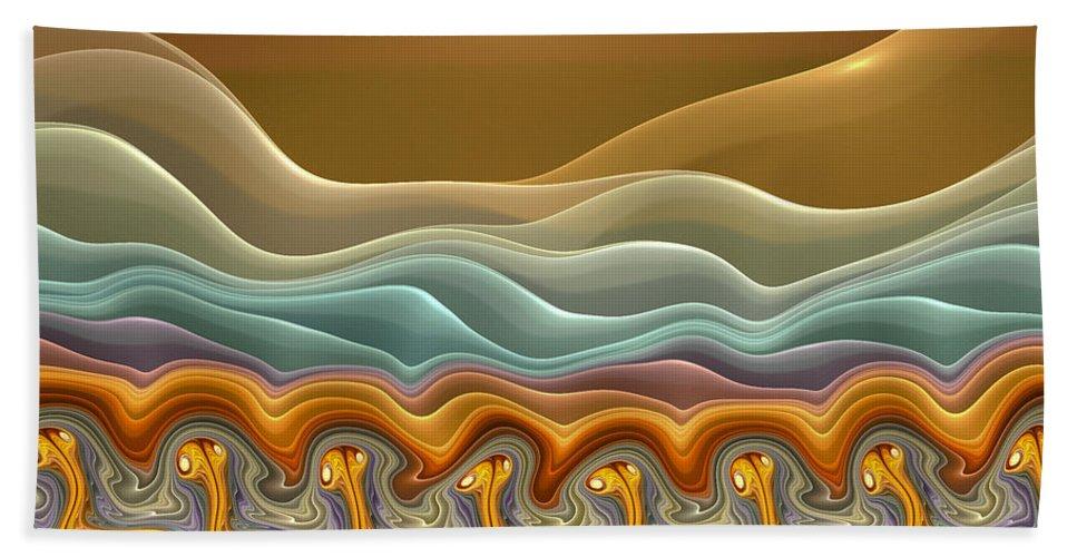 Fractals Hand Towel featuring the digital art Roadrunner Races by Amorina Ashton