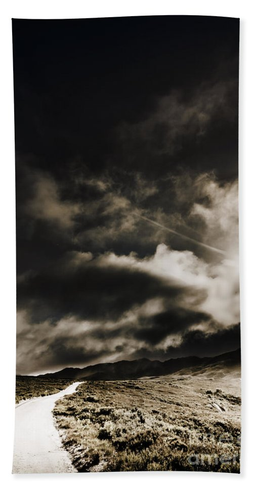 Atmospheric Hand Towel featuring the photograph Roads Of Atmosphere by Jorgo Photography - Wall Art Gallery